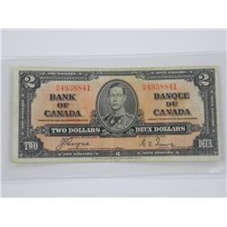 Bank of Canada 1937 - $2.00 C/T.
