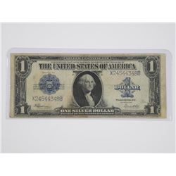 USA 1923 One Dollar Silver Certificate Blue Seal.