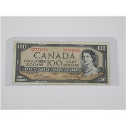 1954 Bank of Canada One Hundred Dollar Note. Modif