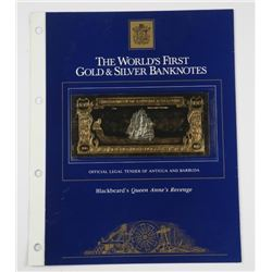 The World's First Gold Banknote One Hundred Dollar