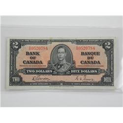Bank of Canada 1937 - 2 Dollars G/T.