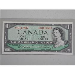 1954 Bank of Canada $1.00 Replacement H/$/ Choice