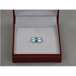 Rectangular Cushion Cut 6.57ct Aquamarine. Eye Cle