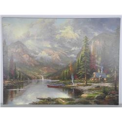 "Thomas Kinkade (1958-2012) Canvas 18x24"" Gallery"