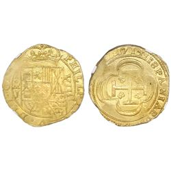 "Mexico City, Mexico, cob 8 escudos, 1714J, date on reverse (""GRAT"" variety), NGC MS 62, ex-1715 Flee"