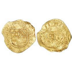 "Bogota, Colombia, cob 2 escudos, 1633, assayer A below mintmark NR to left, NGC MS 63, ex-""Mesuno ho"