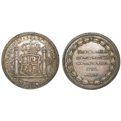 Mexico City, Mexico, 4 reales proclamation medal, Charles IV, 1789.