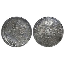 "Holland, United Netherlands, ""rider"" double ducatoon, 1673, rare, NGC XF 45 (extra-thick slab)."