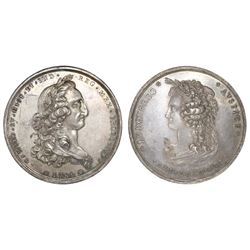 Mexico City, Mexico (Archbishop), silver proclamation medal, Charles IV, 1789, normal date, portrait