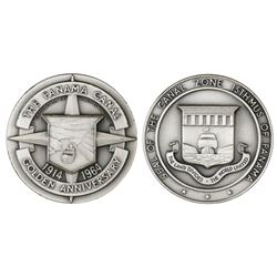 Panama, silver medal, 1964, 50th anniversary of the Panama Canal.