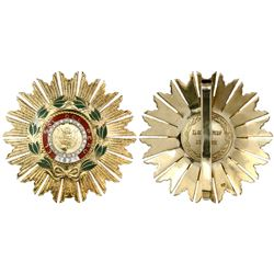 Peru, large gilt silver star medal (order), mid-1900s, Grand Cross of the Order of the Sun of Peru (