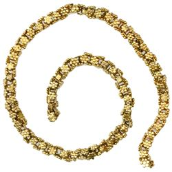 "Small piece (7"") of gold ""olive blossom"" chain from the 1715 Fleet."