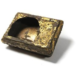 Small, gold-leaf-on-silver snuffbox from the 1715 Fleet.