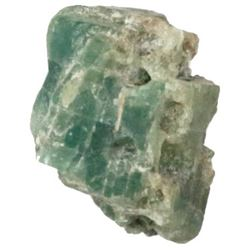 Crude natural emerald from the 1715 Fleet, 9 carats.