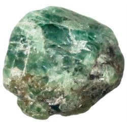 Crude natural emerald from the 1715 Fleet, 7 carats.