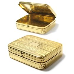 Small, 14K gold Tiffany pillbox, ca. 1950s.