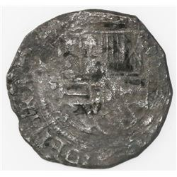 Mexico City, Mexico, cob 4 reales, Philip II, assayer not visible.