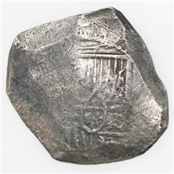 Mexico City, Mexico, cob 8 reales, Philip IV or Charles II, assayer not visible.