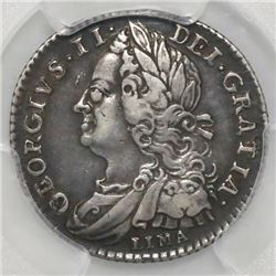 Great Britain (London, England), sixpence, George II, 1746, with LIMA below bust, PCGS XF40.