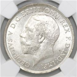 Great Britain (London, England), florin (2 shillings), George V, 1911, NGC AU 58.