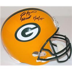 "Brett Favre Signed LE Packers Full-Size Helmet Inscribed ""4 Retired 7/18/15"" #2/44 (Favre Hologram"