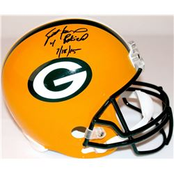 "Brett Favre Signed LE Packers Full-Size Helmet Inscribed ""4 Retired 7/18/15"" #16/44 (Favre Hologram"