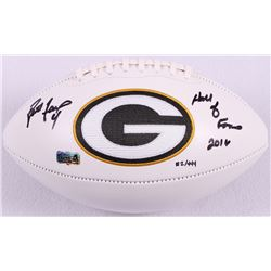 "Brett Favre Signed LE Packers Logo Football Inscribed ""Hall of Fame 2016"" #2/444 (Favre Hologram)"