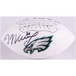 DeMarco Murray Signed Eagles Logo Football (Radtke COA  Murray Hologram)