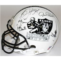 """Multi-Signed Raiders """"Heisman Trophy"""" Full-Size Authentic Pro-Line Helmet with (5) Signatures Includ"""