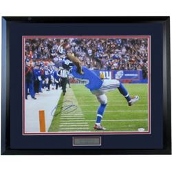 "Odell Beckham Jr. Signed Giants 24x25 ""The Catch"" Custom Framed Photo (JSA Hologram)"