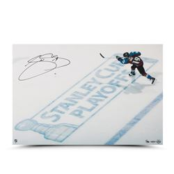 "Joe Sakic Signed Avalanche LE ""Stanley Cup Playoff"" 16x24 Photo (UDA COA)"