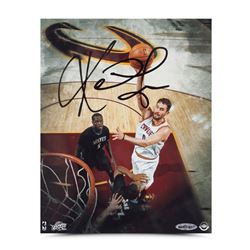 Kevin Love Signed Cavaliers Over the Top 8x10 Photo (UDA COA)