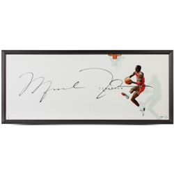 "Michael Jordan Signed Bulls ""The Show II"" 20x46 Custom Framed Photo Display (UDA COA)"
