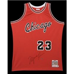 Michael Jordan Signed Bulls Mitchell  Ness Authentic Rookie Jersey (UDA COA)