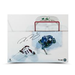 "Peter Forsberg Signed Avalanche ""Back of the Net"" 16x20 Photo LE 50 (UDA COA)"