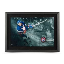 "Teemu Selanne Signed Jets ""Slap Shot Breaking Through"" 16x24 Custom Framed Photo (UDA COA)"