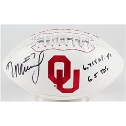 "DeMarco Murray Signed Oklahoma Sooners Logo Football Inscribed ""6,718 A.P. Yards""  ""65 TD's"" (Murray"