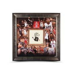 "Allen Iverson Signed 76ers ""Career"" LE 42x42 Custom Framed Tegata Display (UDA COA)"