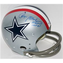 "Roger Staubach Signed Cowboys Full-Size TK Suspension Helmet Inscribed ""SB VI MVP""  ""HOF '85"" (Radtk"