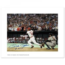 "Pete Rose Signed Reds 16x20 Photo Inscribed ""#4,192"" (PA LOA)"