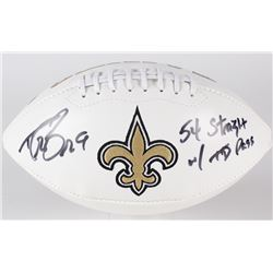 "Drew Brees Signed Saints Logo Football Inscribed ""54 Straight w/ TD Pass"" (Brees Hologram)"