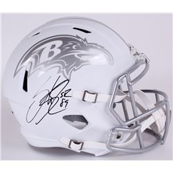 Steve Smith Sr. Signed Ravens Full Size Custom Matte White ICE Speed Helmet (Smith COA)