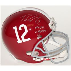 "Trent Richardson Signed LE Alabama Crimson Tide Full-Size Helmet Inscribed ""09  11 Champs"" (Panini C"