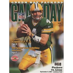 Brett Favre Signed 2001 NFL Gameday Magazine (Favre Hologram)