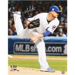 Jon Lester Signed Cubs 16x20 Photo (Schwartz COA)