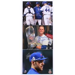 Lot of (3) Signed Cubs 8x10 Photos with (1) Chris Bosio, (1) John Mallee  (1) Matt Szczur (Schwartz