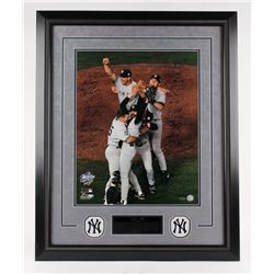 """1998 Yankees World Series Champions LE 25"""" x 32"""" Custom Framed Photo Display Team-Signed by (24) Wit"""