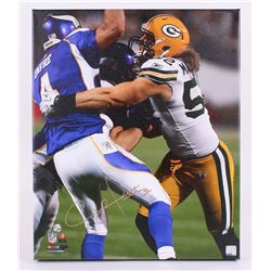 "Clay Matthews Signed Packers 20""x24"" Photo on Canvas (Matthews Hologram)"