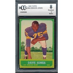 1963 Topps #44 Deacon Jones RC (BCCG 8)