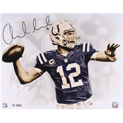 "Andrew Luck Signed LE Colts ""White Out"" 16x20 Photo (Panini COA)"
